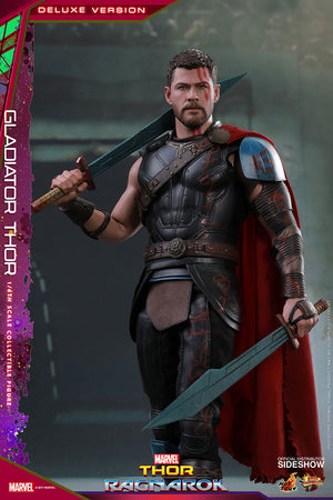 Marvel Hot Toys Ragnarok Deluxe Gladiator Thor 1:6 Scale Action Figure MMS454