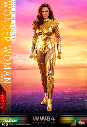 DC Hot Toys Deluxe Wonder Woman 84 Golden Armor 1:6 Scale Action Figure MMS578 Pre-Order