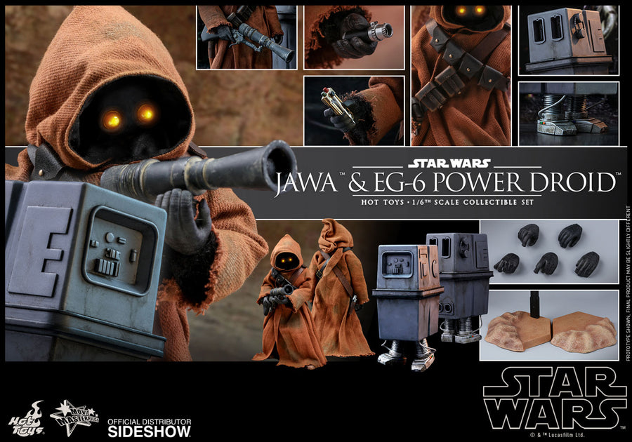 Star Wars Hot Toys Jawa & EG-6 Power Droid 1:6 Scale Action Figure HOTMMS554 Pre-Order