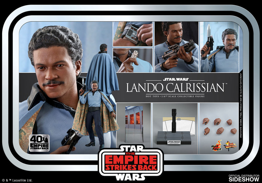 Star Wars Hot Toys Empire Strikes Back 40th Anniversary Lando Calrissian 1:6 Scale Action Figure MMS588 Pre-Order