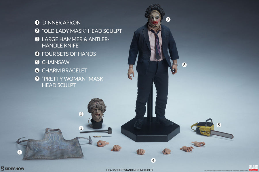 Texas Chainsaw Massacre Sideshow Collectibles Leatherface 1:6 Scale Action Figure Pre-Order