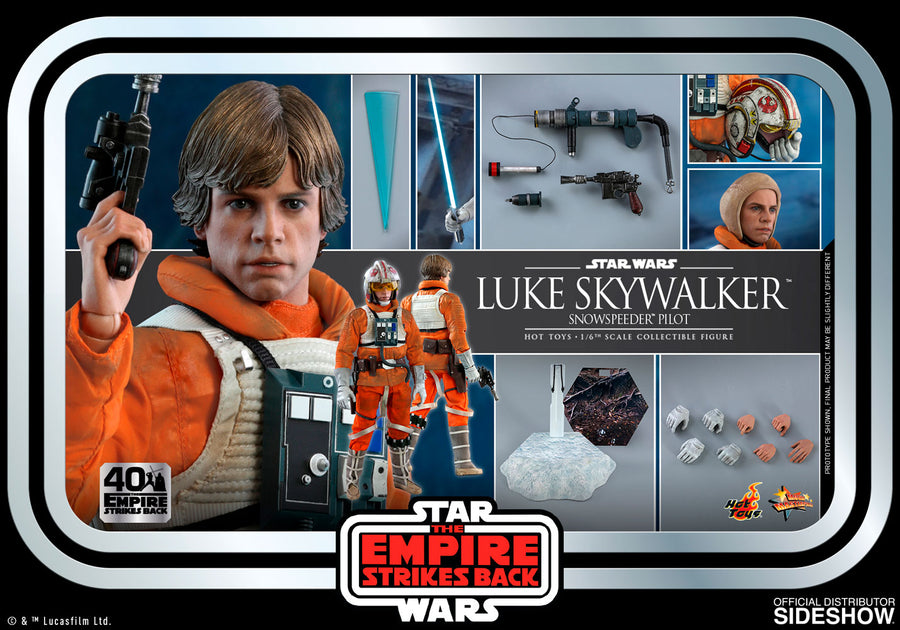 Star Wars Hot Toys Empire Strikes Back 40th Anniversary Luke Skywalker Snowspeeder Pilot 1:6 Scale Action Figure MMS585 Pre-Order