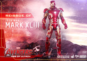 Marvel Hot Toys Avengers Iron Man Mark XLIII Reissue 1:6 Scale Action Figure HOTMMS278D09 Pre-Order
