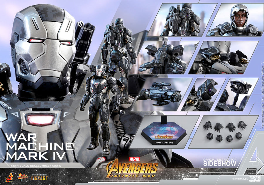 Marvel Hot Toys Infinity War War Machine Mark IV Diecast 1:6 Scale Action Figure HOTMMS499D26 Pre-Order