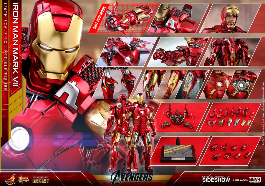 Marvel Hot Toys Avengers Iron Man Mark VII 1:6 Scale Action Figure HOTMMS500D27 Pre-Order