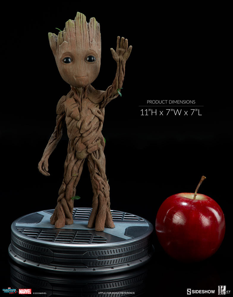 Marvel Sideshow Collectibles Guardians Of The Galaxy Vol 2 Baby Groot Life Sized Maquette