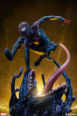 Marvel Sideshow Collectibles Spider-Man Miles Morales Premium Format 1:4 Scale Statue Pre-Order