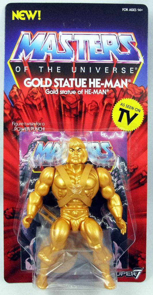 Masters Of The Universe Vintage Gold Statue He-Man Action Figure