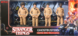 Stranger Things Deluxe Ghostbusters Action Figure 4-Pack