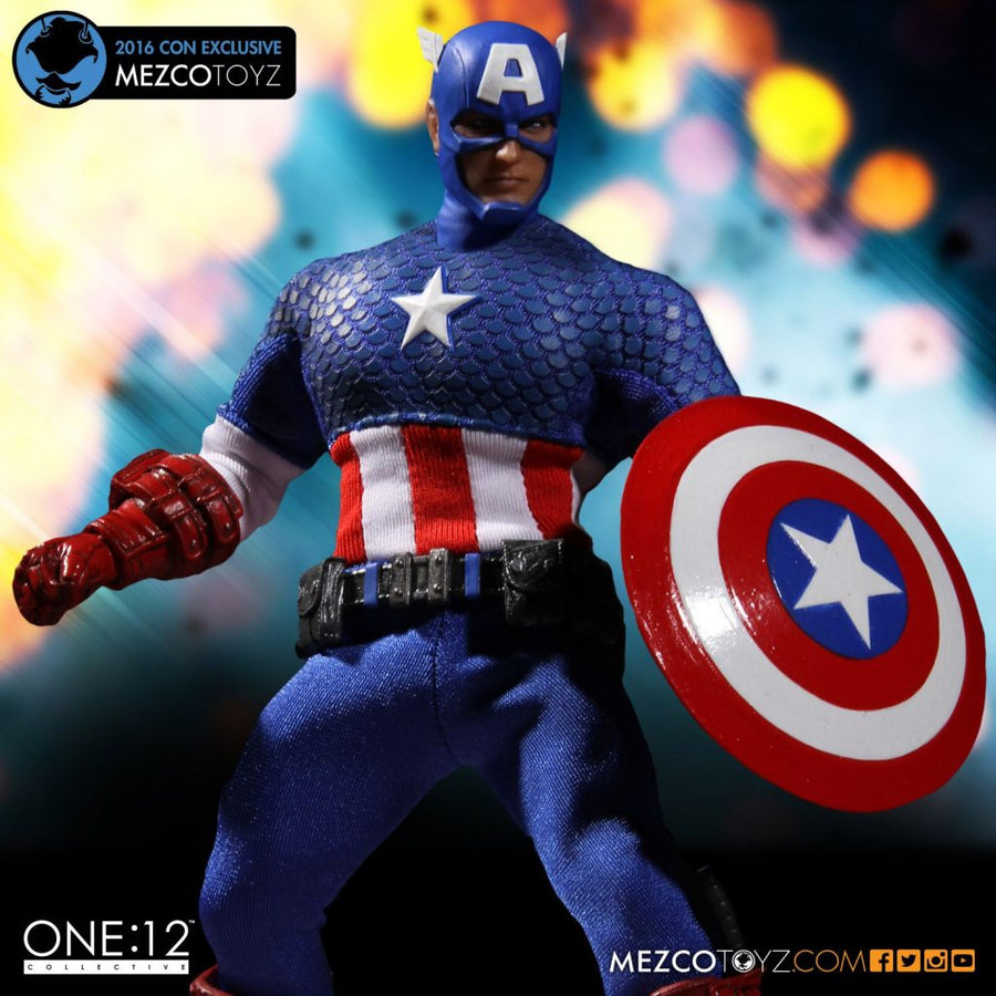 Marvel Mezco Con Exclusive 2016 Captain America One:12 Scale Action Figure