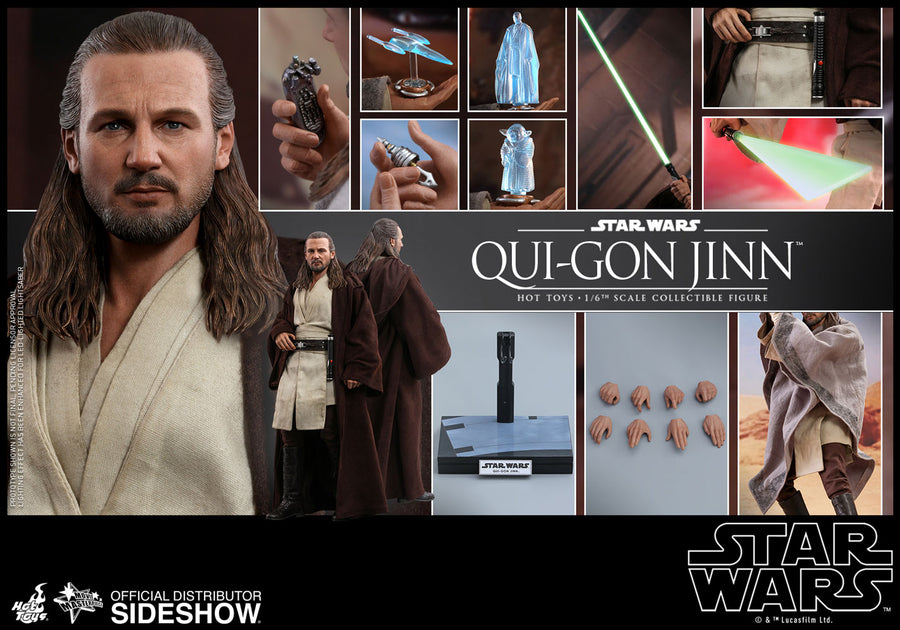 Star Wars Hot Toys Phantom Menace Qui-Gon Jinn 1:6 Scale Action Figure HOTMMS525 Pre-Order