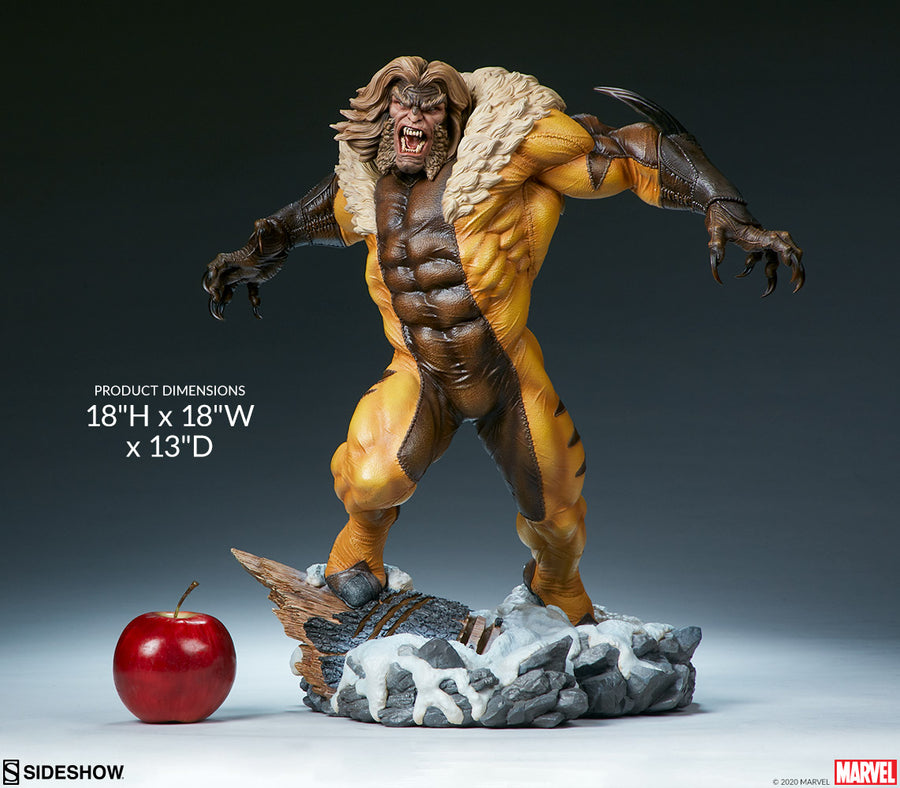 Marvel Sideshow Collectibles X-Men Sabertooth Premium Format 1:4 Scale Statue
