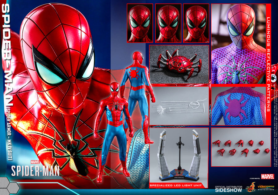 Marvel Hot Toys Spider-Man Gameverse Spider Armor MK IV Suit 1:6 Scale Action Figure VGM43 Pre-Order