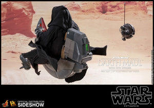 Star Wars Hot Toys Phantom Menace Darth Maul w/ Sith Speeder Set 1:6 Scale Action Figure DX17