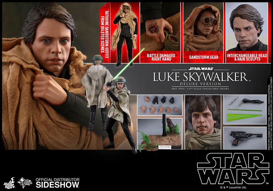 Star Wars Hot Toys Return Of The Jedi Deluxe Luke Skywalker 1:6 Scale Action Figure HOTMMS517 Pre-Order