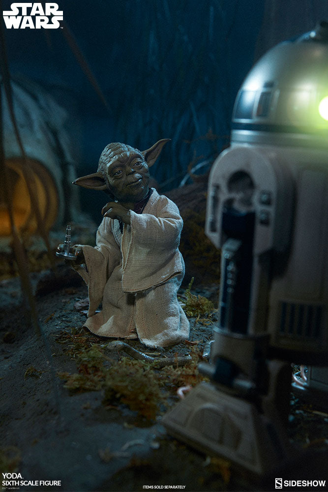 Star Wars Sideshow Collectibles Empire Strikes Back Yoda 1:6 Scale Action Figure