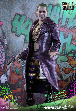 DC Hot Toys Suicide Squad Joker Purple Coat 1:6 Scale Action Figure MMS382