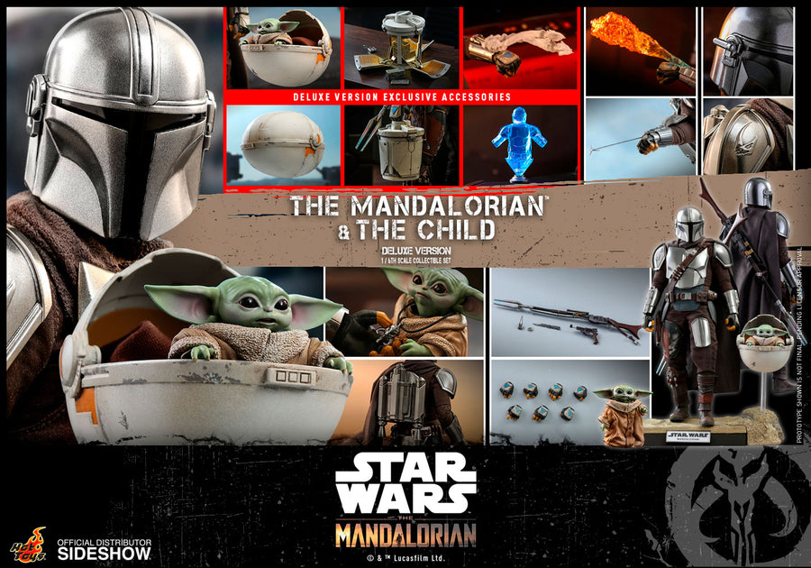 Star Wars Hot Toys Deluxe The Mandalorian & The Child 1:6 Scale Action Figure HOTTMS015 Pre-Order