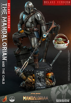 Star Wars Hot Toys The Mandalorian & Child Deluxe QS017 1:4 Scale Action Figure Pre-Order