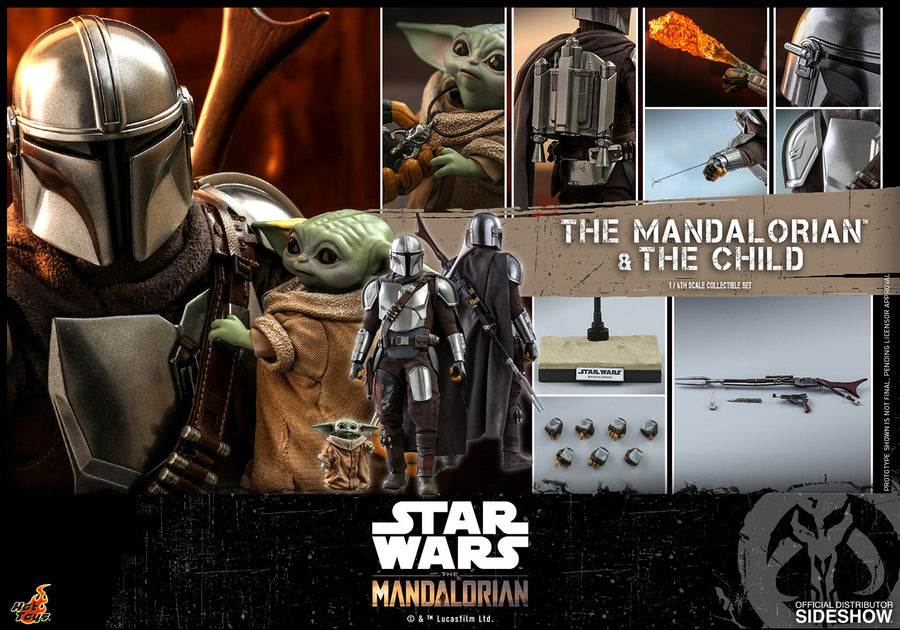 Star Wars Hot Toys The Mandalorian & The Child 1:6 Scale Action Figure HOTTMS014 Pre-Order