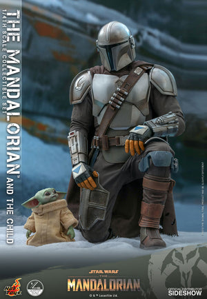 Star Wars Hot Toys The Mandalorian & Child QS016 1:4 Scale Action Figure Pre-Order