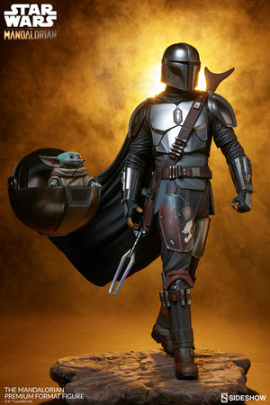 Star Wars Sideshow Collectibles The Mandalorian Premium Format 1:4 Scale Statue Pre-Order