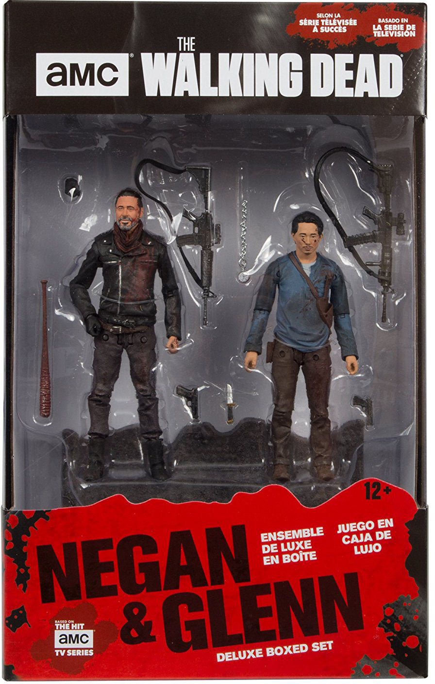 The Walking Dead TV Series Negan & Glenn Deluxe Action Figure 2-Pack