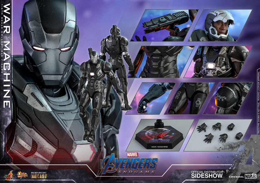 Marvel Hot Toys Avengers Endgame War Machine Diecast 1:6 Scale Action Figure HOTMMS530D31 Pre-Order