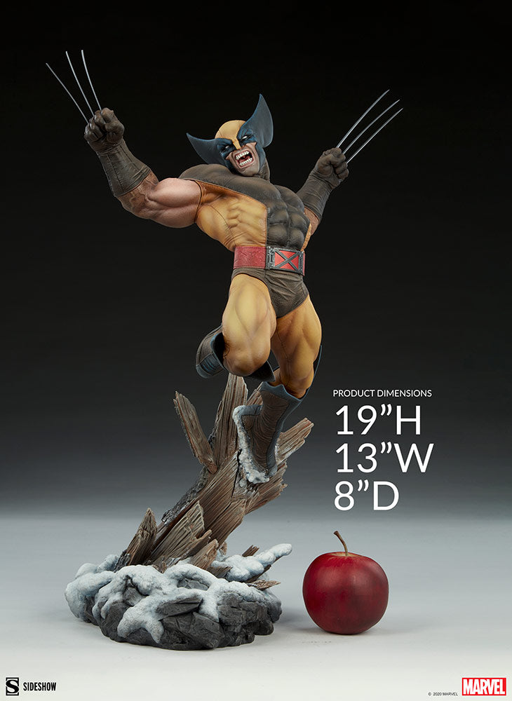 Marvel Sideshow Collectibles X-Men Wolverine Brown Suit Premium Format 1:4 Scale Statue Pre-Order