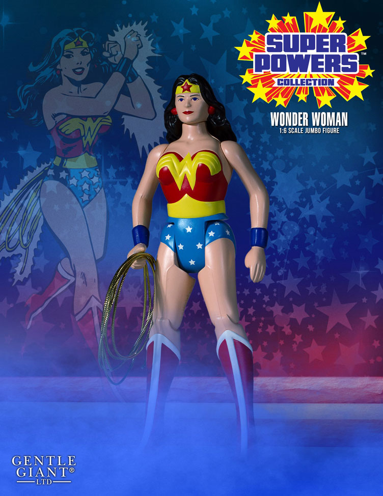DC Gentle Giant Super Powers Vintage Jumbo Wonder Woman Action Figure
