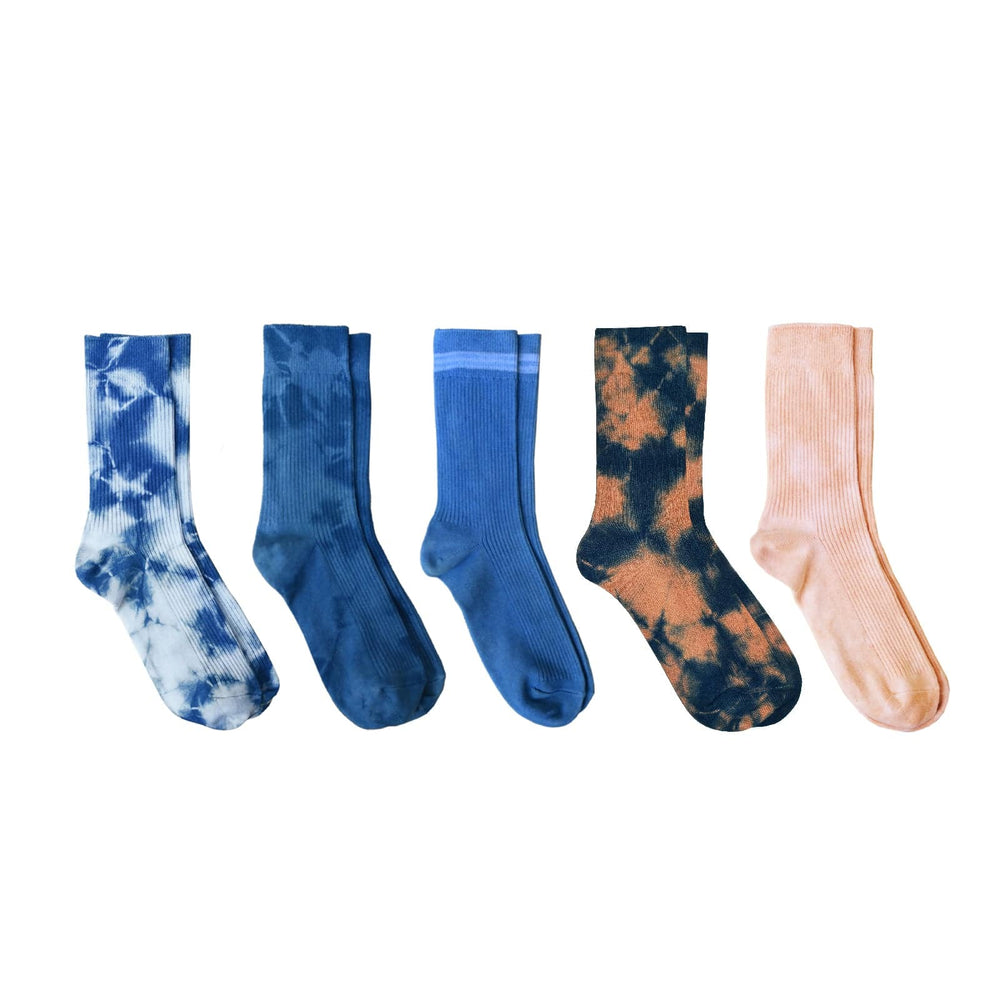 NATURAL HAND-DYED SOCKS (PACK OF 5)