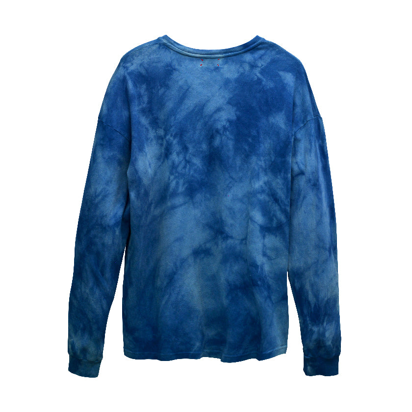 CAMOUFLAGE INDIGO LONG-SLEEVED T-SHIRT
