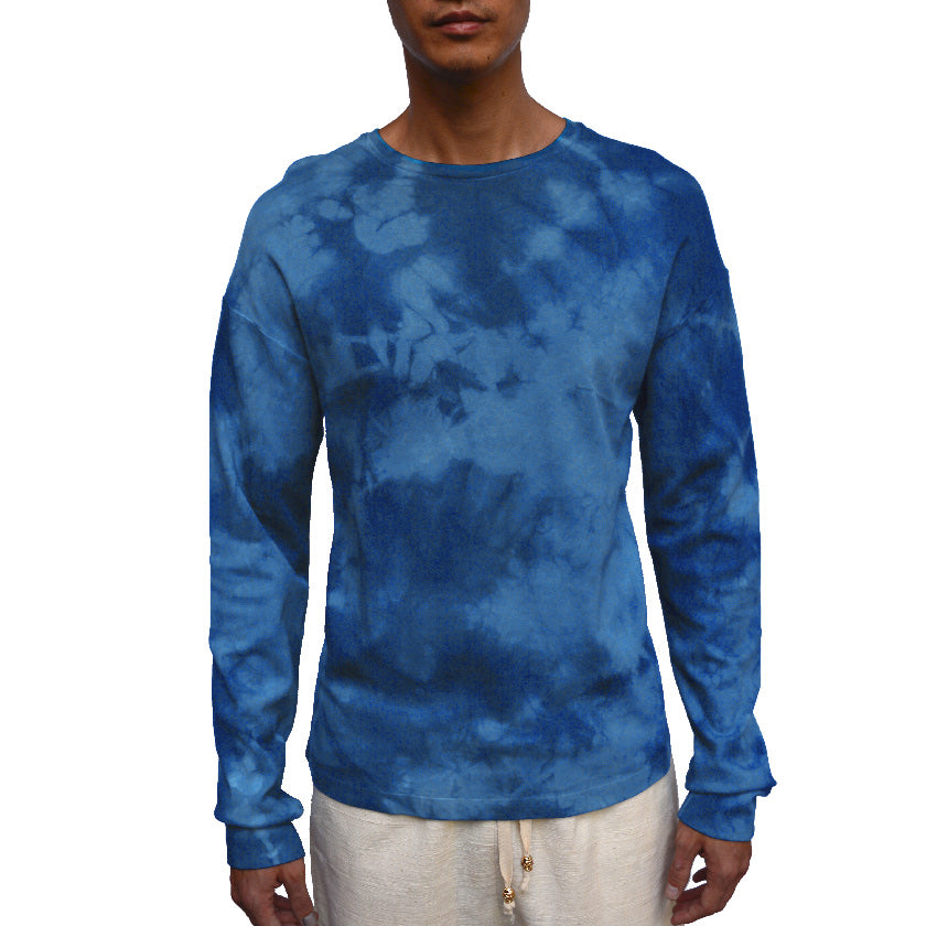 Load image into Gallery viewer, CAMOUFLAGE INDIGO LONG-SLEEVED T-SHIRT