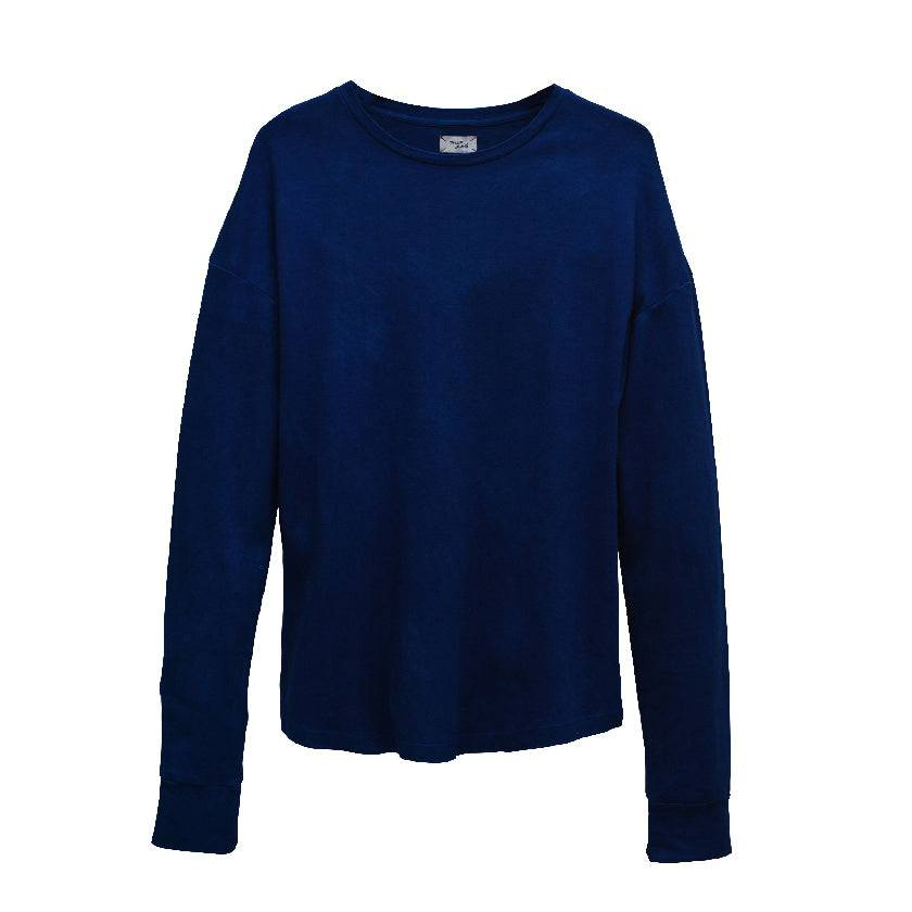 DARK INDIGO LONG-SLEEVED T-SHIRT