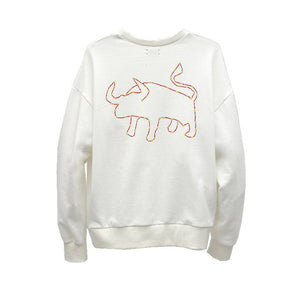 Load image into Gallery viewer, OX STAR WHITE ORGANIC FRENCH TERRY SWEATSHIRT