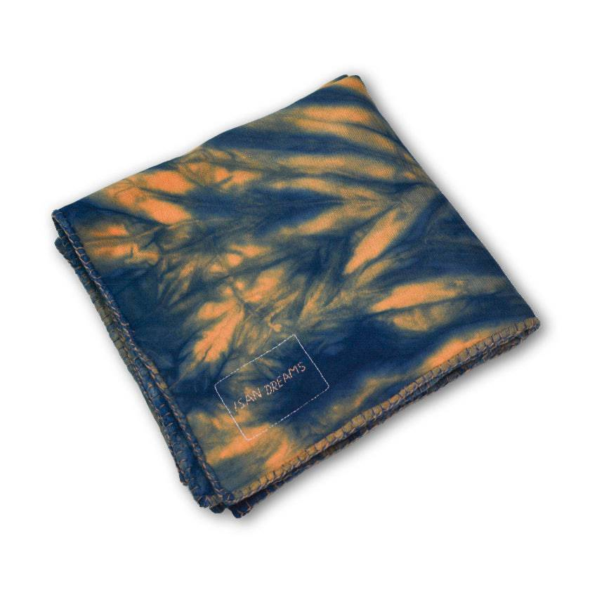 ISAN DREAMS PRADU INDIGO BAMBOO FLEECE BLANKET