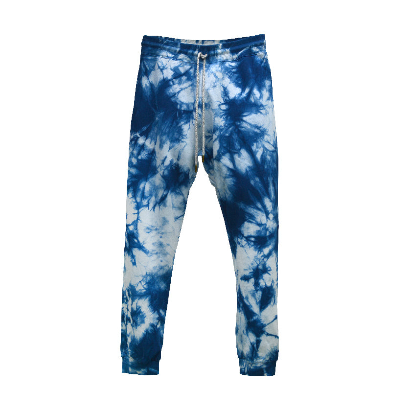 TIE-DYE INDIGO ORGANIC FRENCH TERRY SWEATPANTS