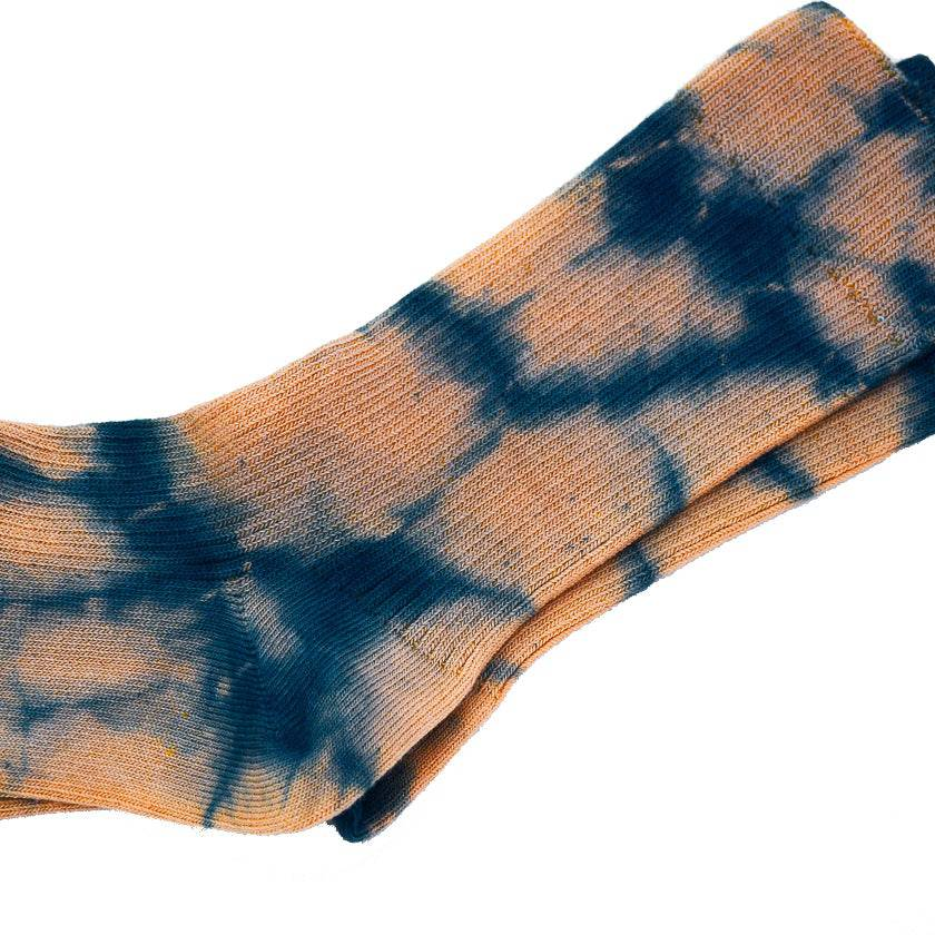 NATURAL HAND TIE-DYED PRADU INDIGO SOCKS
