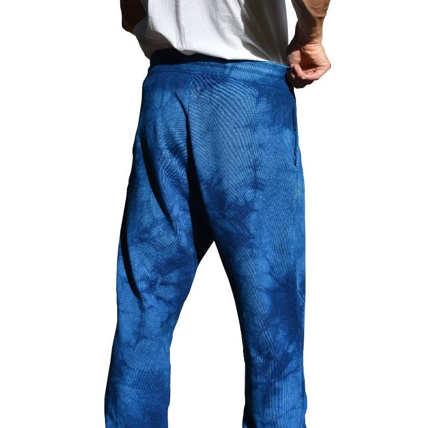 Load image into Gallery viewer, CAMOUFLAGE INDIGO ORGANIC FRENCH TERRY SWEATPANTS