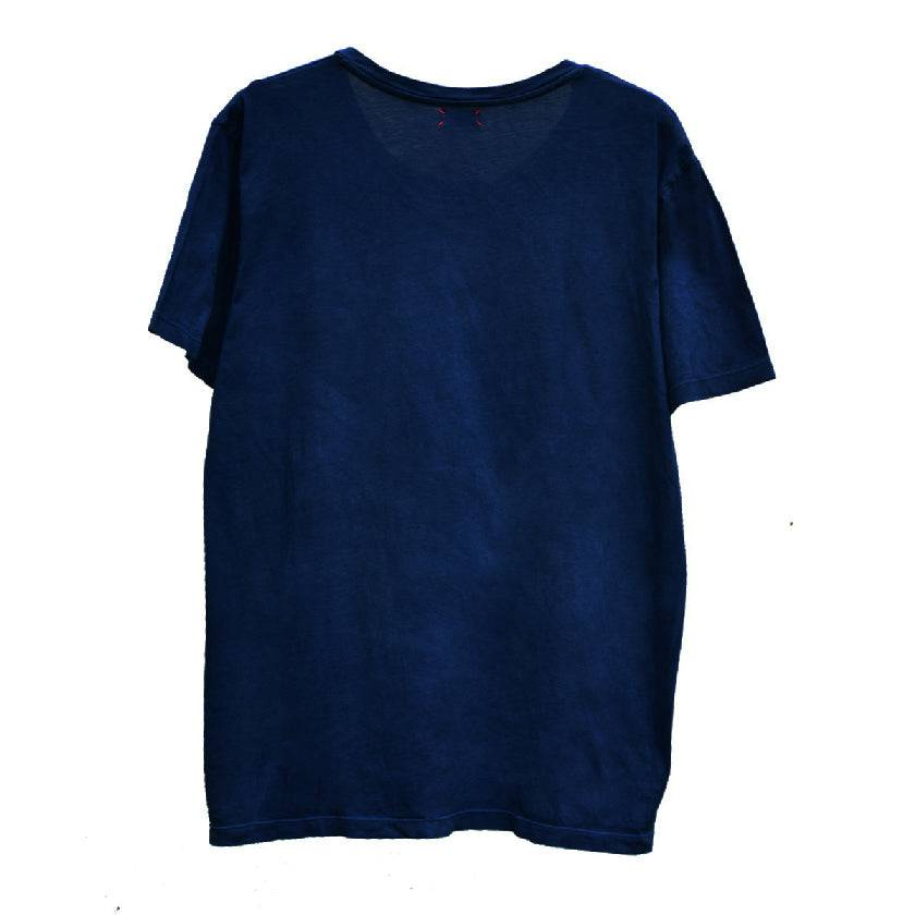 DARK INDIGO WIDE CREW NECK T-SHIRT