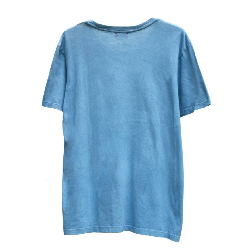 Load image into Gallery viewer, SKY INDIGO WIDE CREW NECK T-SHIRT