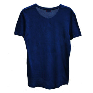 DARK INDIGO LAZY V-NECK T-SHIRT