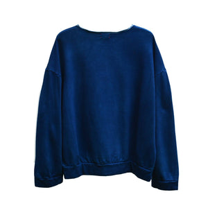 ISAN DREAMS DARK INDIGO BAMBOO FLEECE SWEATSHIRT