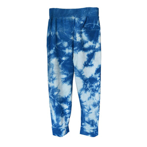 Load image into Gallery viewer, ISAN DREAMS TIE-DYED INDIGO BAMBOO FLEECE CROSSOVER SWEATPANTS