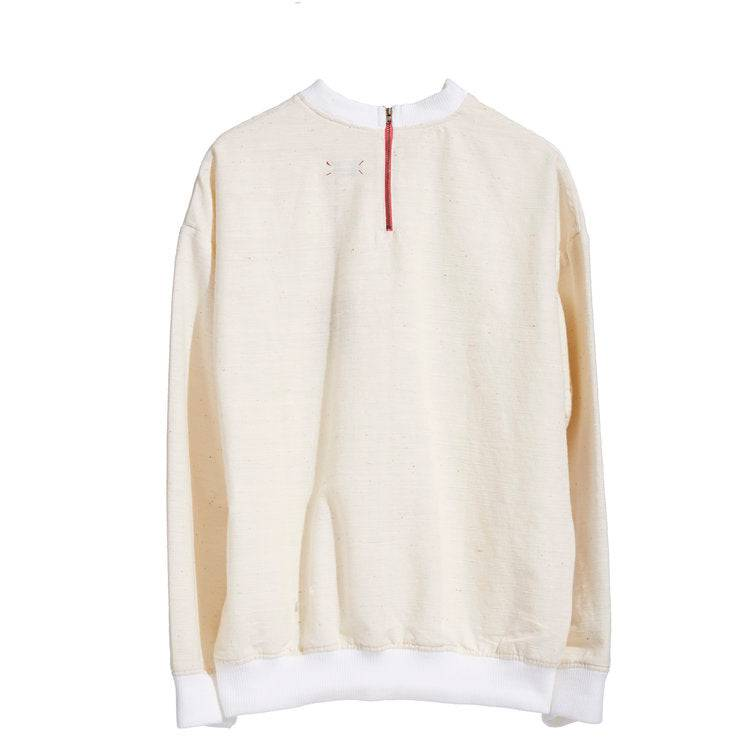 Load image into Gallery viewer, RAW WHITE ISAN WOVEN SWEATSHIRT