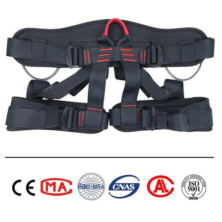 Aixben Climbing Harness Rock Climbing Harness Professional Mountaineering Harness Black and Red