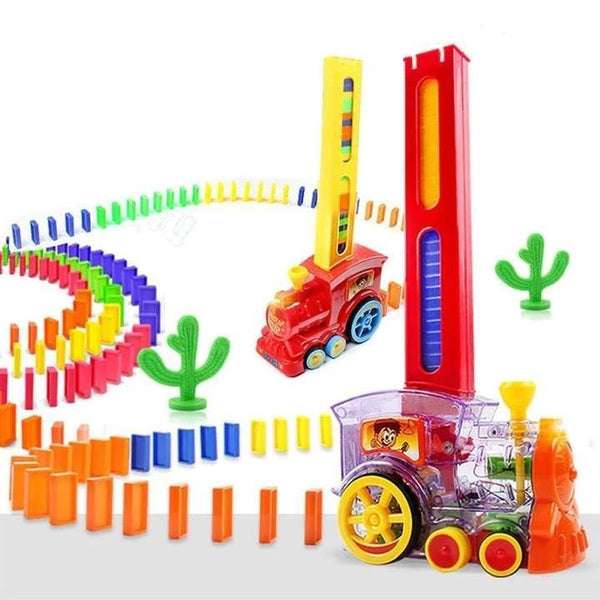 160pcs Only Domino Children's Educational Toys Automatically Start Dominoes Train Set Aixben