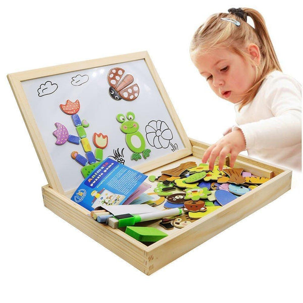 Educational Magnetic Box (With Whiteboard & Chalkboard) Aixben