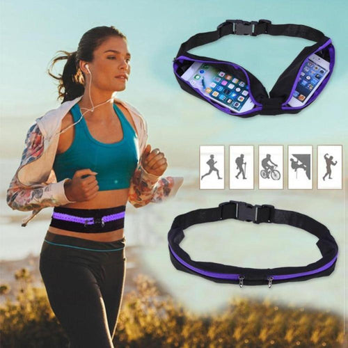 X XBEN Dual Pocket Running Belt