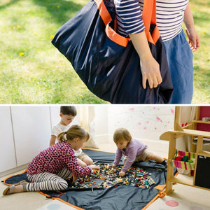 X XBEN Green Picnic Mat Bag Outdoor Beach Blanket Waterproof